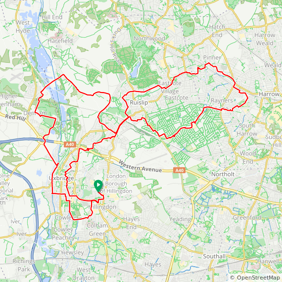 Map image of a Trip from January  7, 2018