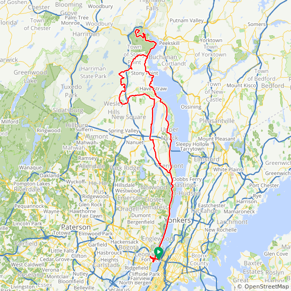 Map image of a Trip from May 19, 2014