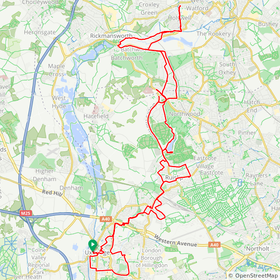 Map image of a Trip from September  5, 2018