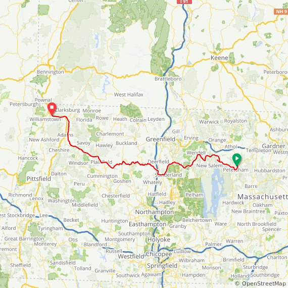 Map image of a Trip from September 19, 2018