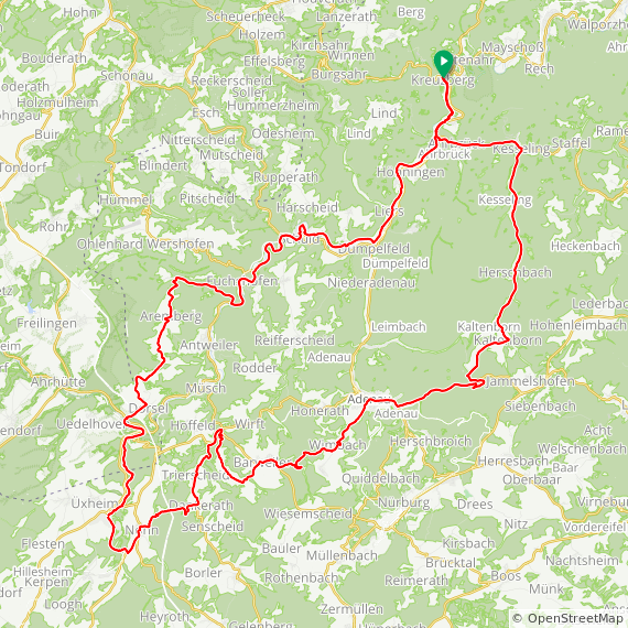 Map image of a Trip from November  5, 2018