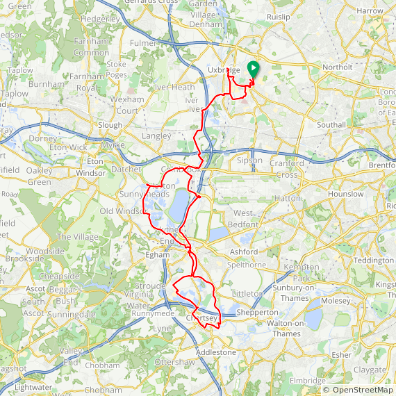 Map image of a Trip from July  9, 2014
