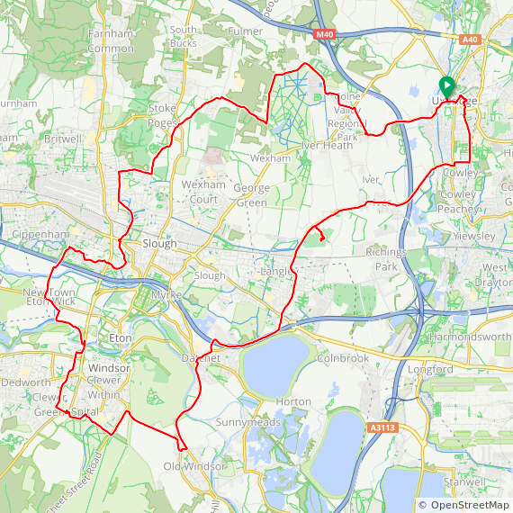Map image of a Trip from January 23, 2019