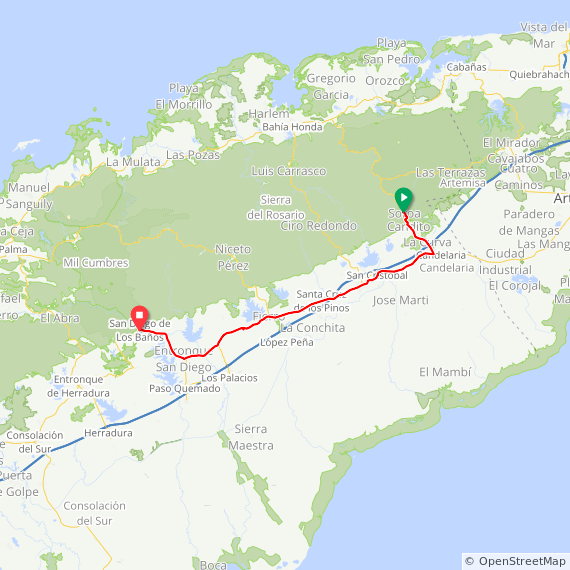 Map image of a Trip from April  9, 2019