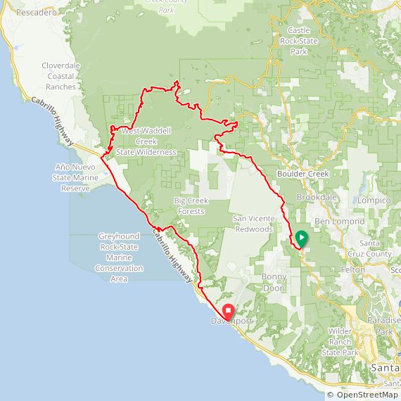 Map image of a Trip from May  8, 2019