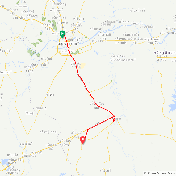 Map image of a Trip from May 29, 2019