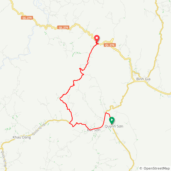 Map image of a Trip from June 18, 2019