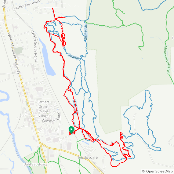 Map image of a Trip from July  7, 2019