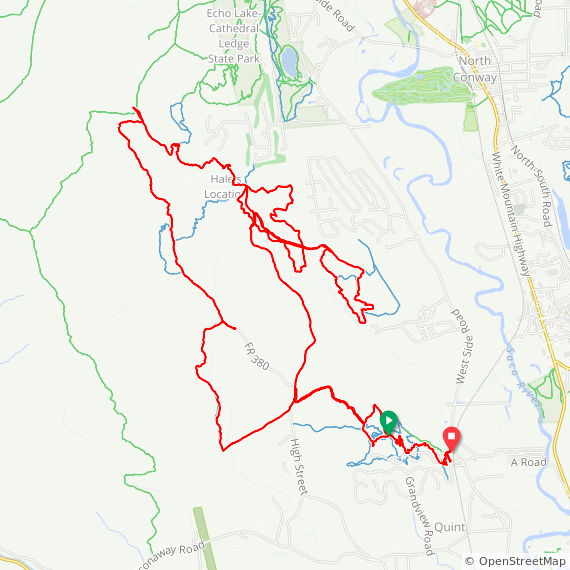 Map image of a Trip from July 28, 2019
