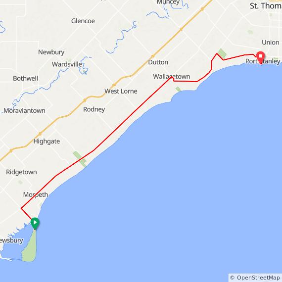 Rondeau Provincial Park to Port Stanley