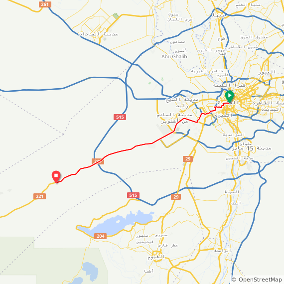 Map image of a Trip from December  2, 2014