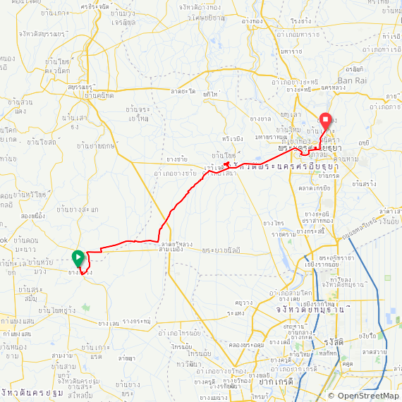Map image of a Trip from August 12, 2019