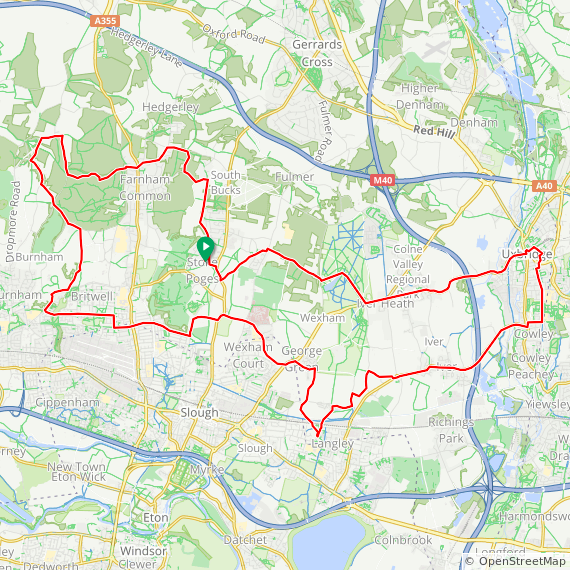 Map image of a Trip from January 15, 2015