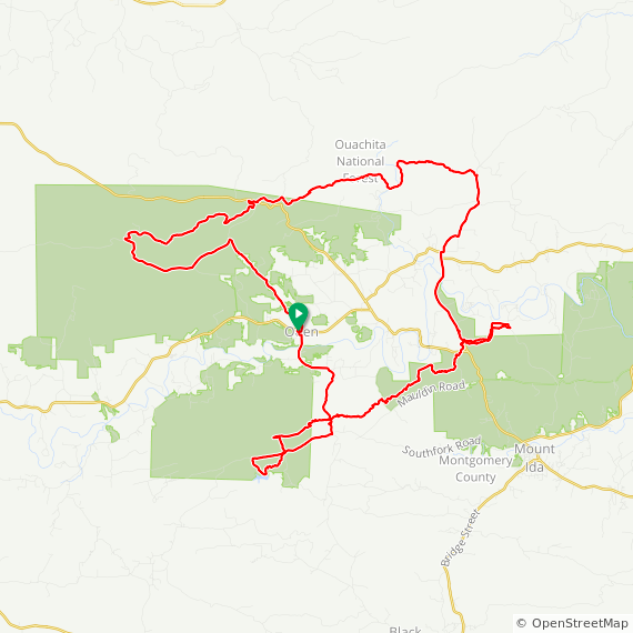 Map image of a Trip from March 30, 2015