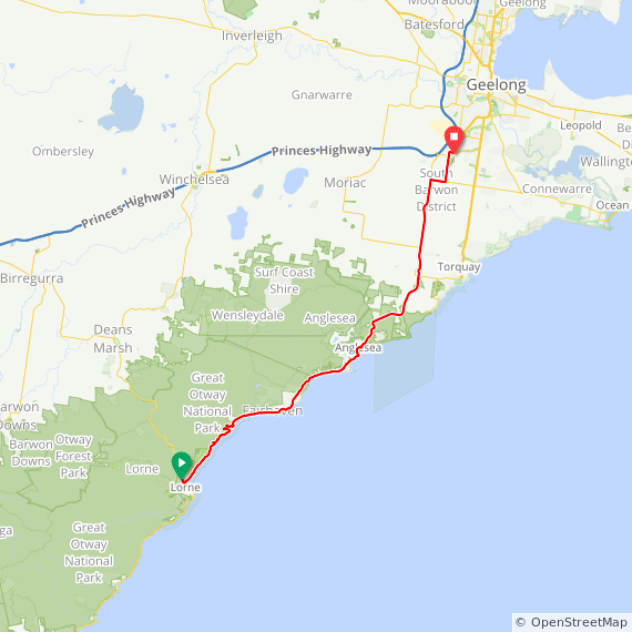 Lorne to Waurn Ponds