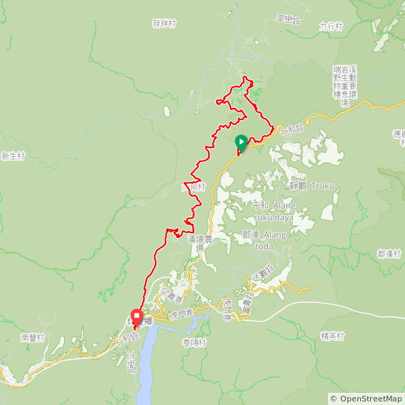 Map image of a Trip from May  3, 2015