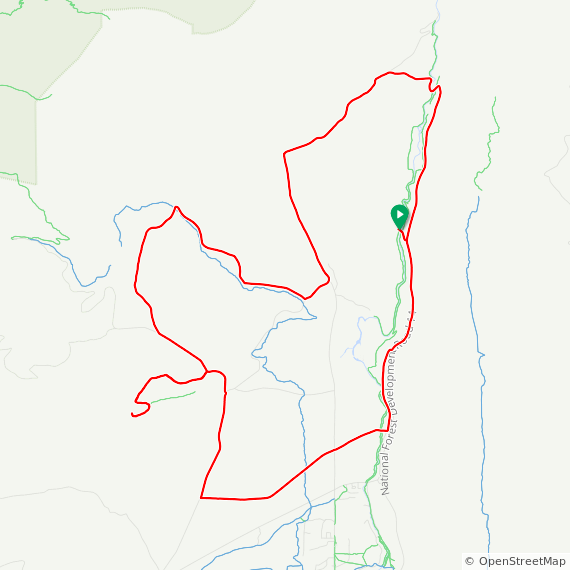 Map image of a Trip from May  9, 2015