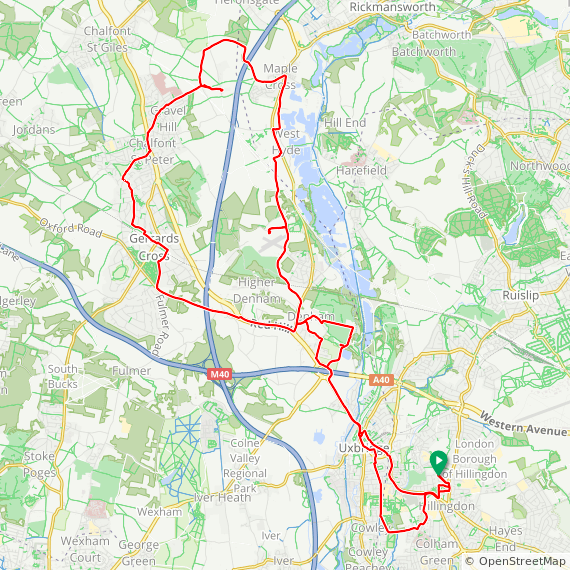 Map image of a Trip from May 31, 2015