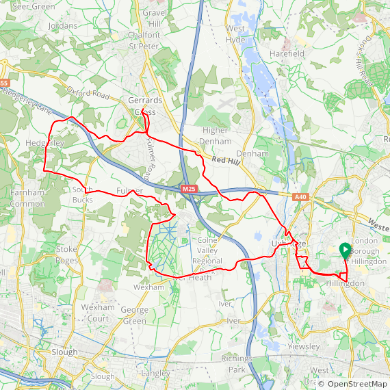 Map image of a Trip from May  9, 2012