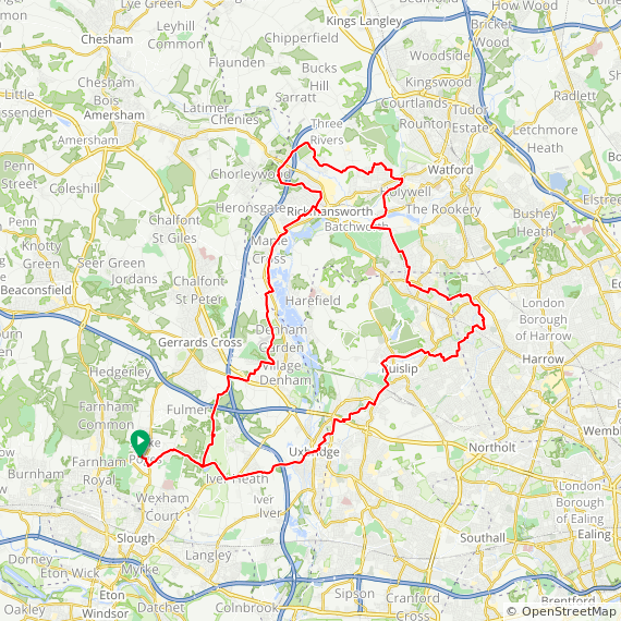 Map image of a Trip from December 12, 2015