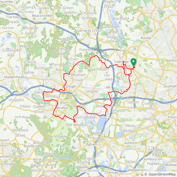 Map image of a Trip from January  6, 2016