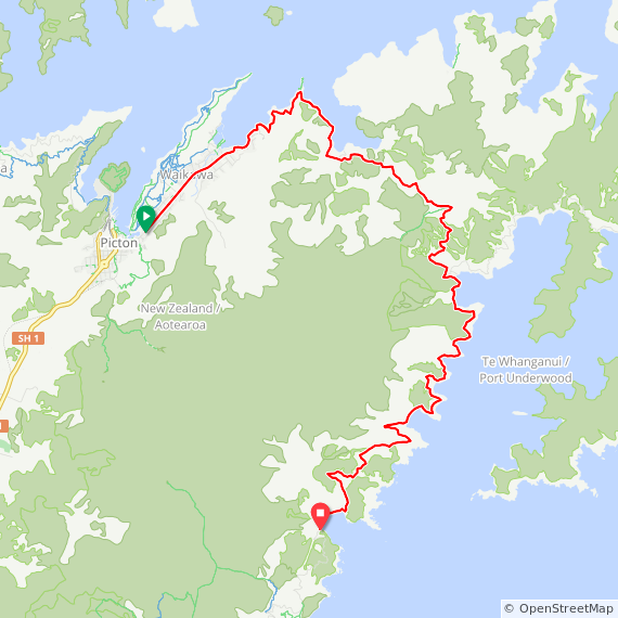 Map image of a Trip from March  8, 2016