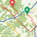 Map image of a Trip from September 11, 2016