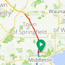 Map image of a Trip from September 12, 2016