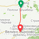 Map image of a Trip from November  3, 2016