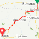 Map image of a Trip from November  4, 2016