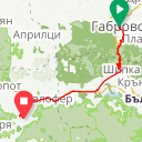 Map image of a Trip from November  5, 2016
