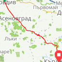Map image of a Trip from November  7, 2016