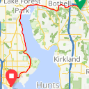 Map image of a Trip from November 17, 2016