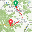 Map image of a Trip from November 18, 2016