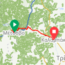 Map image of a Trip from November 24, 2016