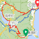 Map image of a Trip from December 17, 2016