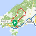 Map image of a Trip from April 24, 2013