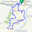 Map image of a Trip from November  7, 2010