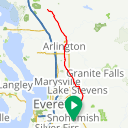 Map image of a Trip from March 19, 2017