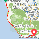 Map image of a Trip from April 23, 2017