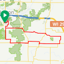 Map image of a Trip from June 18, 2013