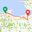 Map image of a Trip from July 11, 2013