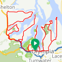 Map image of a Trip from June 11, 2017