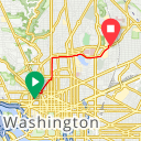 Map image of a Trip from July 25, 2013