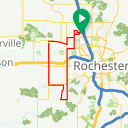 Map image of a Trip from June 16, 2017