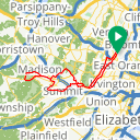 Map image of a Trip from June 23, 2017