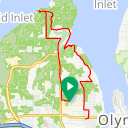 Map image of a Trip from July  9, 2017