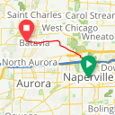 Map image of a Trip from August 24, 2013