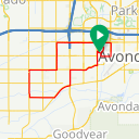 Map image of a Trip from September  4, 2017