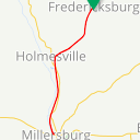 Map image of a Trip from September 12, 2017